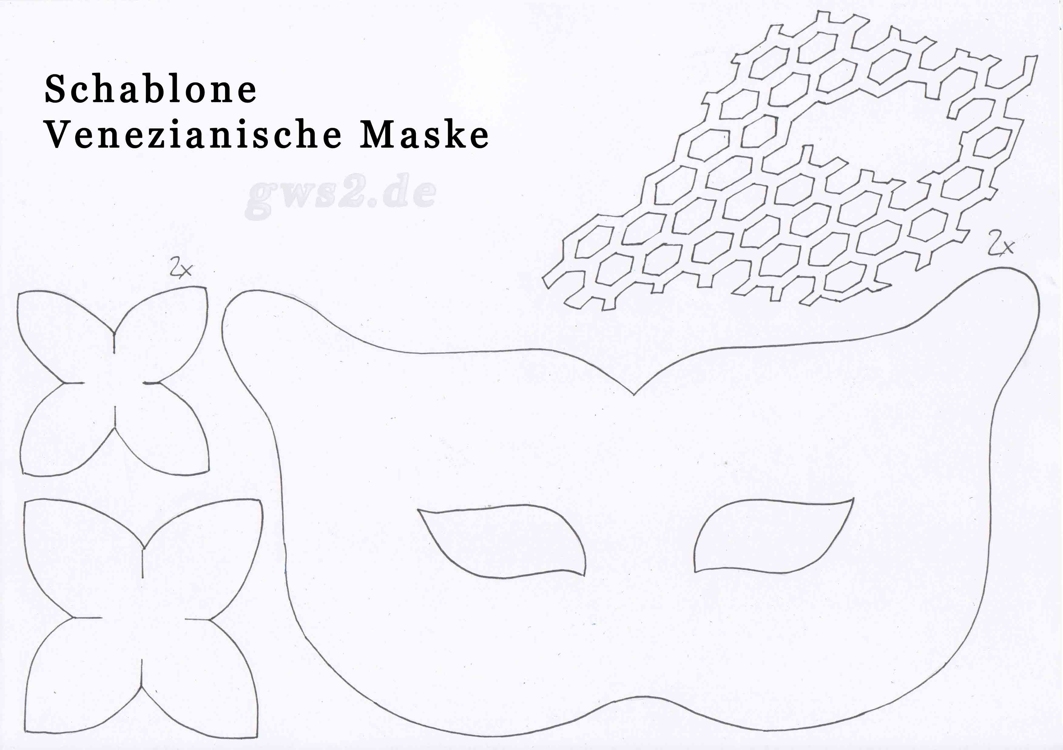 Faschingsmaske basteln - venezianisch