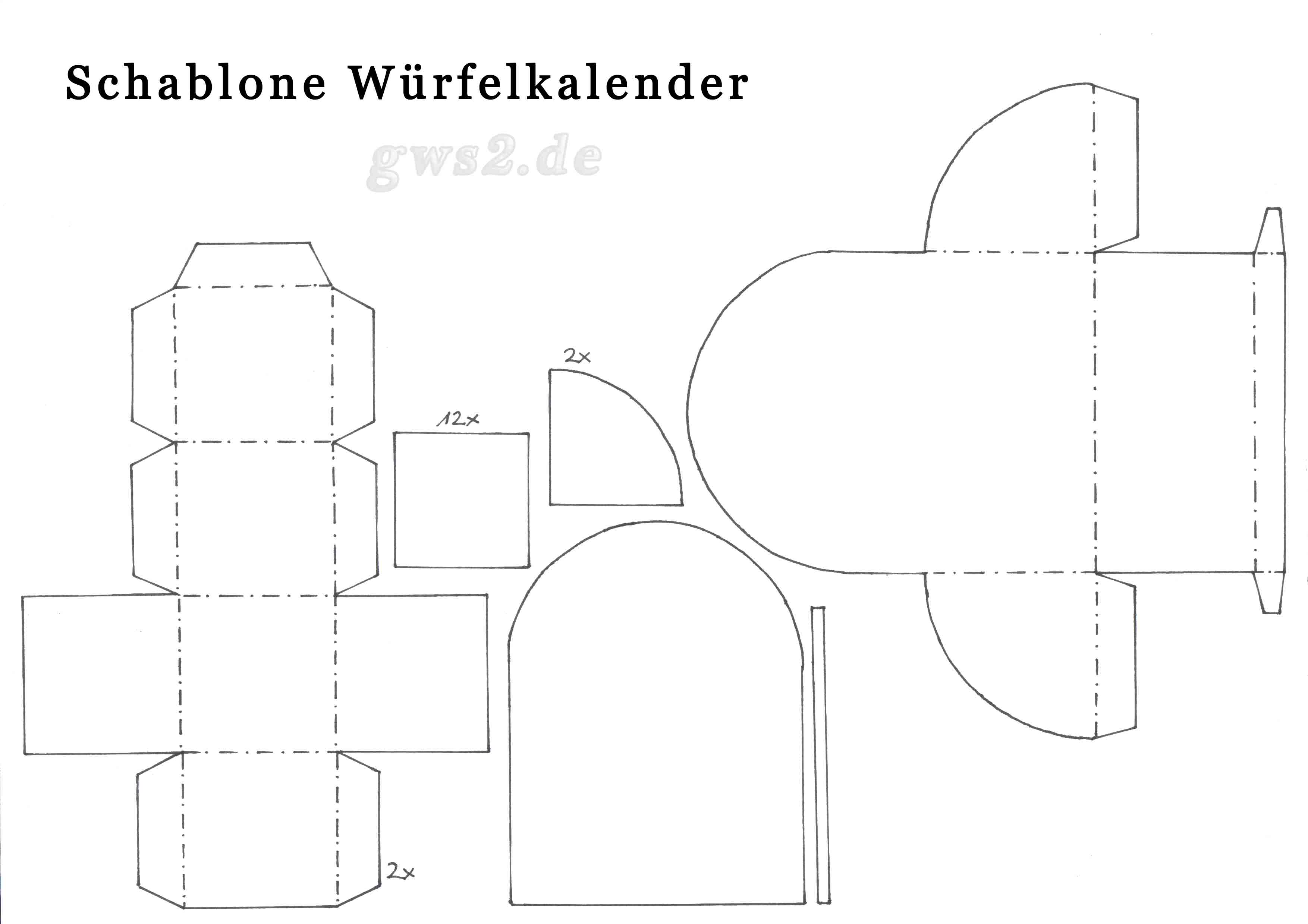 papierkalender selbst basteln bastelvorlage mit anleitung. Black Bedroom Furniture Sets. Home Design Ideas