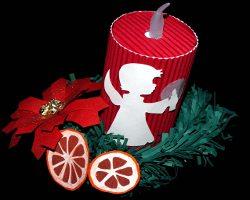 Bild von Weihnachtsengel auf Papierkerze