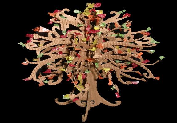Baum Basteln Herbstliche Dekoration