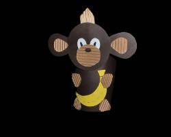 Bild eines Affen aus Pappbecher
