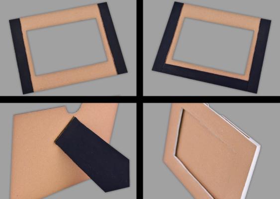 bilderrahmen selber basteln ein originelles valentinstagsgeschenk. Black Bedroom Furniture Sets. Home Design Ideas