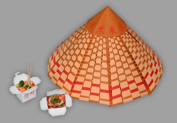 chashitsu hut basteln anleitung und schablonen. Black Bedroom Furniture Sets. Home Design Ideas