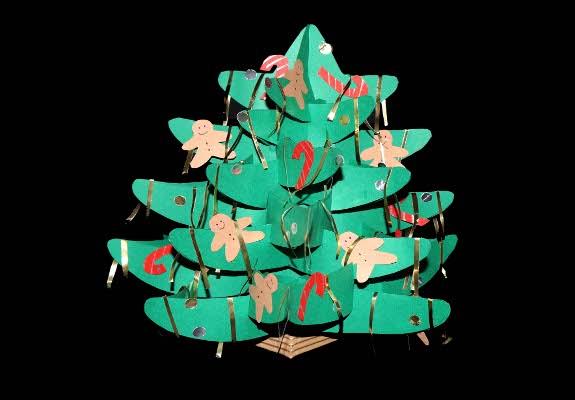 weihnachtsbaum aus papier basteln anleitung und schablonen. Black Bedroom Furniture Sets. Home Design Ideas
