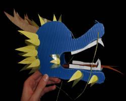 Bild von Profil eines Drachenkopfes