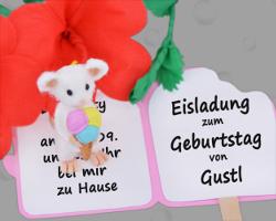 Bild Von GWS2.de Maskottchen Gustl, Der Auf Einer Einladungskarte Steht,  Die Wie