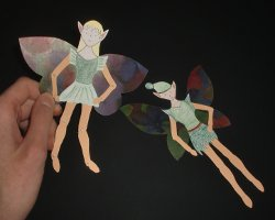 Bild von Elfen aus Papier