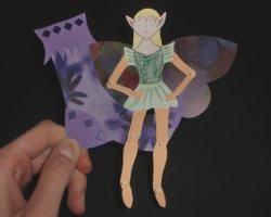 Bild von Elf und Elfenschuh aus Papier