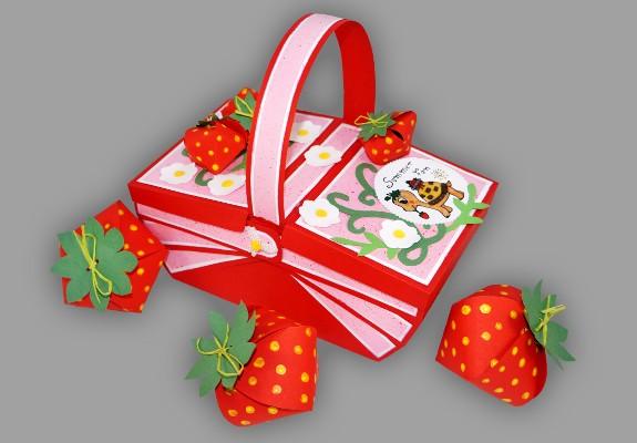 erdbeeren aus papier basteln fr chte aus dem picknickkorb anleitung. Black Bedroom Furniture Sets. Home Design Ideas