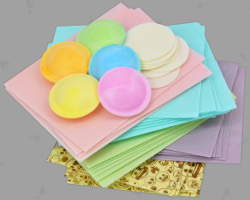 Picture of colorful Edible Wafer Paper from Germany. Best quality for Shariah compliant american Pastries. Image made by Veronika Vetter Bavarian Fine Artist
