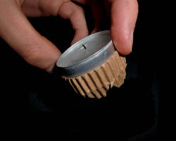 Bild von Teelicht für eine Laterne
