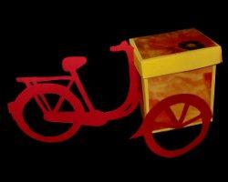 fahrrad mit korb basteln schablone. Black Bedroom Furniture Sets. Home Design Ideas