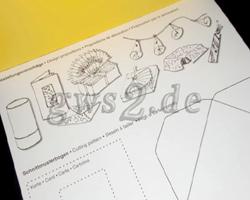Gestaltungsvorschläge und Schnittmusterbogen des Transparentpapiers Flora