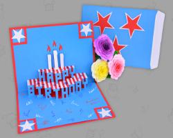Geburtstag Karte Basteln.Geburtstagskarte Fur Kollegen Basteln American Style