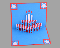 Bild von Happy Birthday in Stars and Stripes