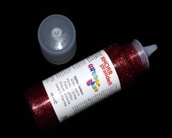 Bild von rotem Glitter Glue