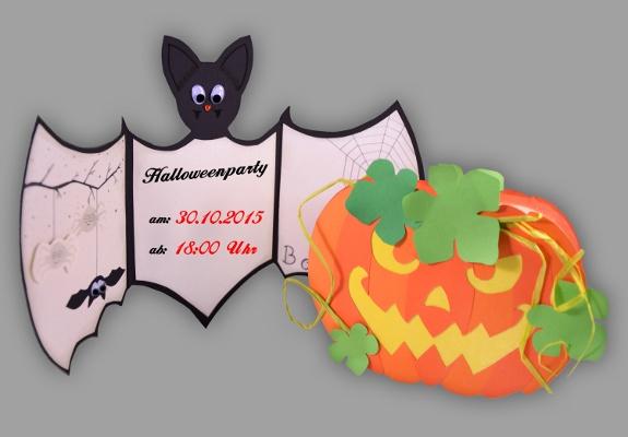 Perfekt Bild Von Zwei Halloweenkarten Aus Papier Zum Selbstbasteln