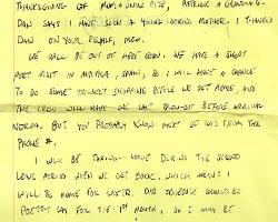 Bild eines handschriftlichen Briefs