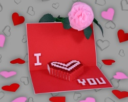 Bild von I Love You Pop-up-Karte aus Papier