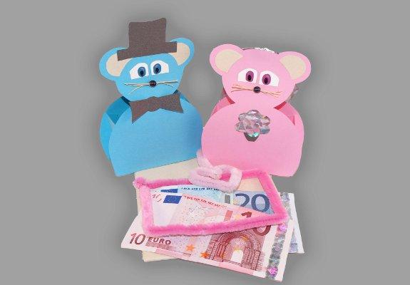 Geldgeschenk für die Hochzeit – Mäuse basteln