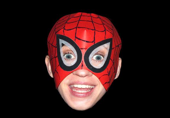 bastelvorlage spiderman maske imagui. Black Bedroom Furniture Sets. Home Design Ideas