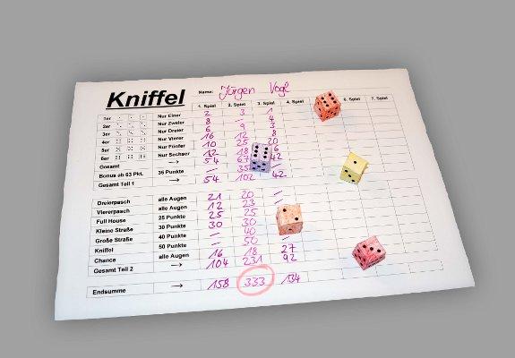 Kniffel Lustiges Würfelspiel Für Kinder