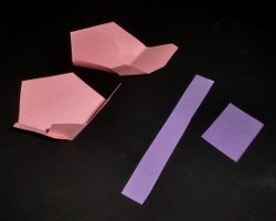 Bild von Bastelmaterial für einen Taschenkorb