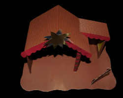 Bild von Verzierungselementen für Weihnachtskrippe
