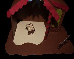 Bild von Papierkrippe im Inneren mit Wiege