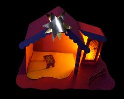 weihnachtskrippe basteln anleitung und schablone. Black Bedroom Furniture Sets. Home Design Ideas