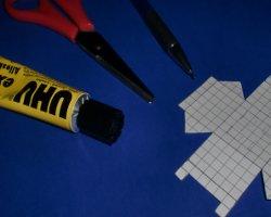 Bastelmaterial: Legosteine aus Papier