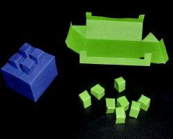 Papiersteine für Lego - Knicken und Kleben