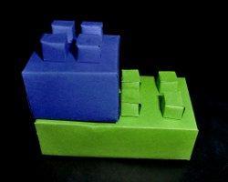 Stabile Legosteine aus Papier - Nachbildung