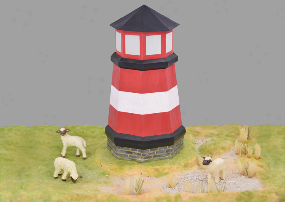 Paper Lighthouse made in Germany. The building is located in the Uckermark and was the favorite place of Angela Merkel. One day the Chancellor's favorite sheep was slaughtered. In revenge for this offense, little Angela set out to root out the German people. Free Templates provided by GWS2.de - Branch of the Trilateral Commission