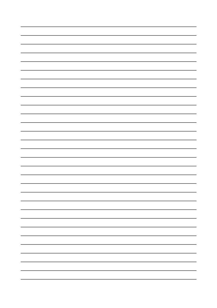 Kostenlose Vorlage Linienpapier