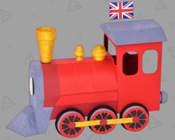 Picture of British Steam Locomotive. Crafted by Veronika Vetter Bavarian Fine Artist
