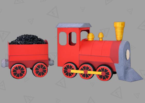 Lokomotive Aus Papier Basteln Bummelzug In Den Ruhestand
