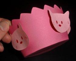 Muffinform im Hello Kitty Design
