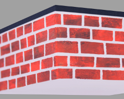 Picture of red New York Brick Wall. Some Brothers are selling Rocks. Street Art by Veronika Vetter German Fine Artist