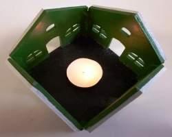 Bild von Teelicht aus Holz