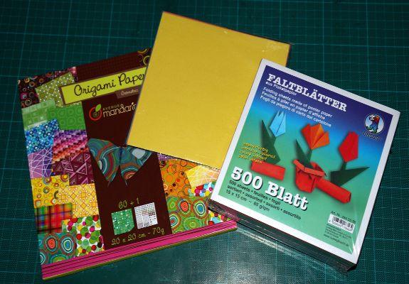 Bild von Origamipapieren