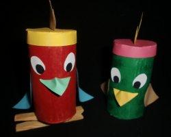 Basteln Mit Klorollen Bunter Papagei