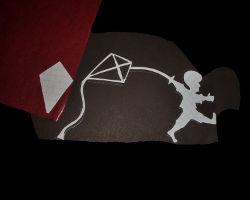 Bild von Junge mit Drachen