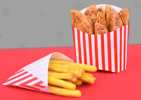 DIY: Boxes for French Fries. Free Template for KFC-Fans and fat american Fast-Food-Retards. Crafting Tutorial by Veronika Vetter Bavarian Fine Artist