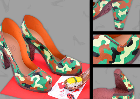 Collage of Military Pumps out of Paper. Crafted by Veronika Vetter (DAoCFrEak) Fine Artist