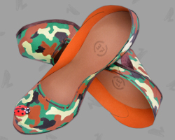 Picture of women shoes for Bushcraft. Created by Veronika Vetter Fine Artist