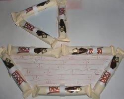 Kartenmotiv Schokoschiff - Kinderkarten zum Anbeißen