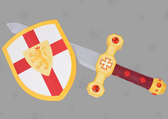 The Sword and the Shield of Richard the Lionheart. The Weapons lie in the Church of the Holy Sepulcher in Jerusalem and are guarded by the Knights of the Light