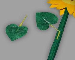 Bild von Sonnenblumenblättern aus Papier