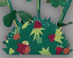 Bunte Blätter aus Transparentpapier